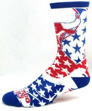 Chicago Bulls Basketball Adult Red White Blue Patriotic Crew Socks with Stars