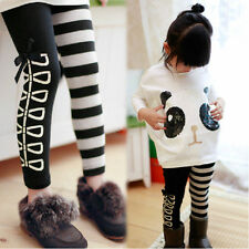 Toddler Baby Girls Kids Panda Coat Tops+Striped Pants Outfits Clothes 2pcs Set