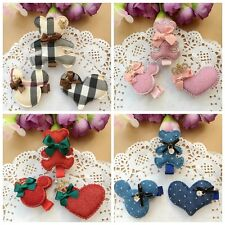 2pcs/lot handmade kid girl baby toddler boutique Hair Bow clip hair accessories