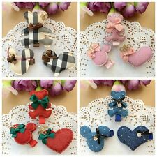 3pcs/lot handmade kids girls baby Xmas Hair clips barrettes hair accessories