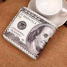 Men's  Vintage US Dollars Clutch ID Card Coin Holder Wallet Leather Clutch Purse