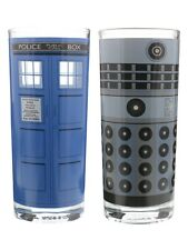 Doctor Who Dalek & Tardis Set Of 2 Dr Who Drinking Glasses