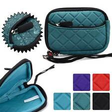 Quilted Water Resistant Digital Camera Protective Pouch Zipper Case FGL2ZZ3-4