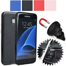 For Samsung Galaxy S7 Edge Magnetic Car Vent Mount & Fitted Case Cover