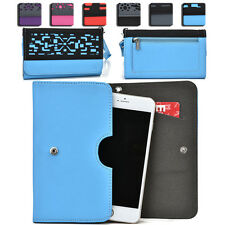 Women's Protective Wallet Case Cover for Smart Cell Phones by KroO ESDC-6 LG