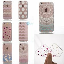 ULTRA THIN Pattern Crystal Gel SOFT Back Cover Case Skin For iPhone 6 6s 6Plus