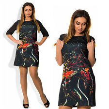 Summer Big Dress 2016 Large Size Casual Sexy Plus Size Elegant Print dresses