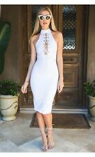 2016 Summer Style Fashion Women Dress Sexy Sleeveless  White Party Dresses