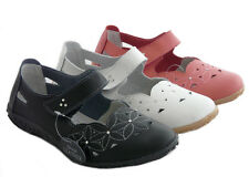 WOMENS LADIES LEATHER COMFORT VELCRO WALKING CASUAL SANDALS MARY JANE SHOES SIZE