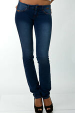 NEW Slinky Sexy Moleton Jeans Blue Low Rise Straight