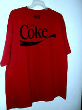 NEW COKE T SHIRT RED choice of XL or 2x  90% cotton LIC BY Coca Cola