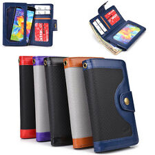 Unisex Protective Smart Phone Wallet Case w/ Built In Screen Protector SMENBA-3
