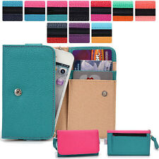 Two-Tone Protective Wallet Case Clutch Cover for Smart-Phones ESAMMT-7