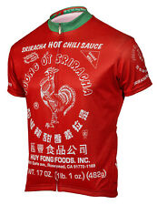 Sriracha Hot Sauce Cycling Jersey Men's short sleeve bike bicycle plus socks