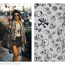 Cool Skull Ghost Head Painting Scarf Shawl Stylish Soft Long Oversized Wraps