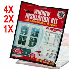 WINDOW INSULATION EXCLUDER COLD KIT IN BAG SHRINK DOUBLE GLAZING FILM DRAUGHT