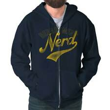Nerd Department Geek Men Funny Humorous Cool Novelty Fashion Zipper Hoodie