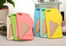 3D Cute Fashion Ice Cream Soft Silicone Skin Cover Case For iPhone 5/5S 4/4S