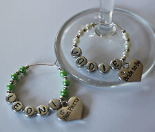 Hen Party - Personalised wine glass charms