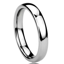 Women's 4MM Titanium  Comfort Fit Wedding Band Domed Ring Half Size Available