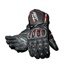 RST TRACTECH EVO Black Motorbike Leather Sports Gloves XS S M L XL 2XL