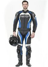 RST TRACTECH EVO-2 2PC BLUE Motorcycle Leathers Jacket & Trousers ALL SIZES
