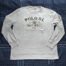 NWT Mens Polo by Ralph Lauren CLASSIC FIT CREW NECK T shirt M GRAY