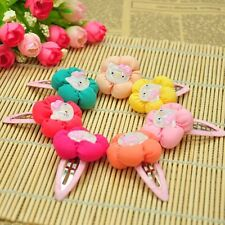 10pcs/lot handmade cat flower hair accessories kid girl baby toddler Hair clips