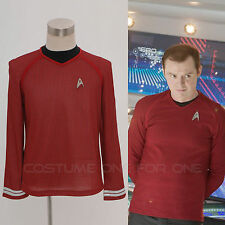 Star Trek Into Darkness Star Fleet Command Costume Red Uniform Shirt Cosplay