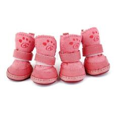 Pet Puppy Dog Winter Warm Shoes Cozy Anti-slip Boots Sneaker Booties Size 1# -5#