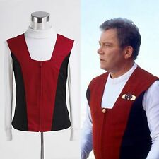 Star Trek Kirk Ribbed Shirt and Red Black Vest Costume Cosplay Halloween