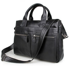 Mens Genuine Leather Cowhide Shoulder pack Business Attache Briefcase Laptop Bag