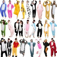 Unisex Adult Pajamas Kigurumi Cosplay Costume Animal Onesie Sleepwear Dress S-XL