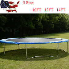 Round 10 12 14FT Safety Frame Blue Pad Spring Pad Replacement Cover Trampoline
