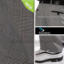 Stromberg Prince Of Wales Quinta/10 Golf Trousers in Black Check  just £44.99