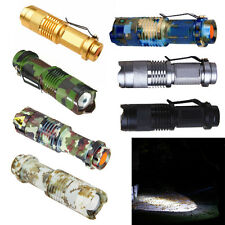 Focus CREE Q5 LED 1200lm Mini ZOOMABLE 14500/AA Flashlight Torch  3 Mode