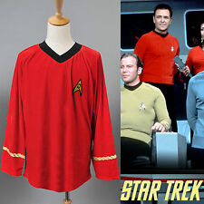 Star Trek TOS Scotty Red Shirt Uniform Tops Cosplay Costume Party Halloween