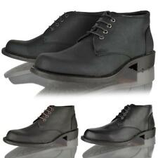 MENS NEW CASUAL SMART CHUKKA LACE UP BLACK DESSERT WORK ANKLE BOOTS SHOES SIZE
