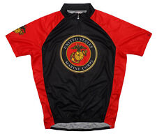 Primal Wear Marines Emblem Short Sleeve USMC Cycling Jersey Men's with Socks