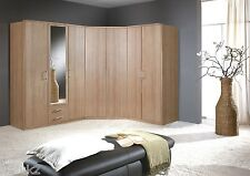 Genoa Wardrobe Cupboard German Bedroom Furniture Oak Effect Chest Bedside