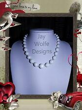 UNIQUE WHITE JADE HANDMADE ONE OF A KIND NECKLACE JEWELLERY @ JAY WOLFE