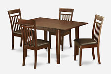 5 PC small kitchen table set - dinette table with 4 kitchen dining chairs