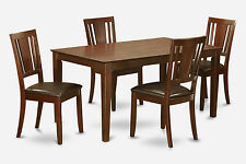5 Piece dining room Set for 4 set-Dining table and 4 Dining Chairs