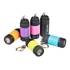 Portable Pocket Mini Keychain Torch USB Rechargeable LED Light Flashlight