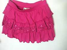 NWT SO Tiered Sequin Scooter Skirt - Girls Plus Pink Size L(14) New