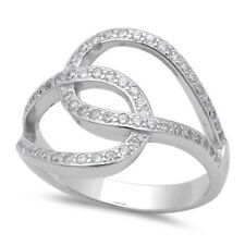 Wedding Engagement Ring 925 Sterling Silver Pave Russian Russian CZ