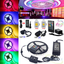 New 5M 300LED SMD 3528 5050 RGB Flexible Strip String Light (Music Remote+Power)