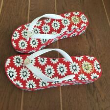 Tory Burch WEDGE flat flip flops beach sandals slippers Colorful Women NEW