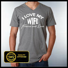 I love my wife Vneck Tshirt, Husband and Wife, Family Shirt, Wifey, Hubby Tshirt
