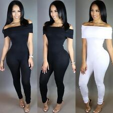 Sexy Womens Off Shoulder Bodycon Jumpsuit Clubwear Trousers Playsuit Rompers